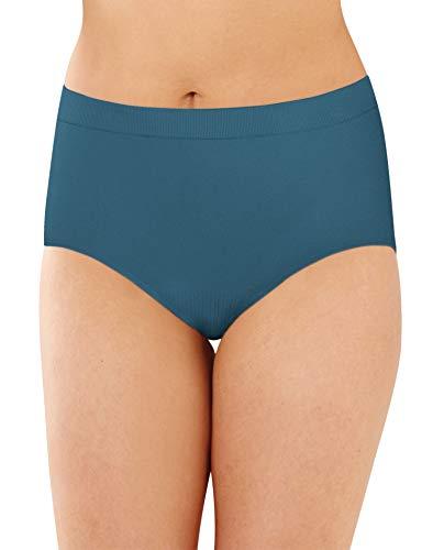 Bali Women's Comfort Revolution Seamless Brief Panty, Teal Regatta, 7
