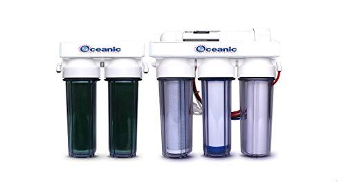 6 STAGE AQUARIUM REEF | 100 GPD | RO/DI REVERSE OSMOSIS WATER FILTER SYSTEM DUAL DI | MADE IN - Oceanic Tank Aquarium