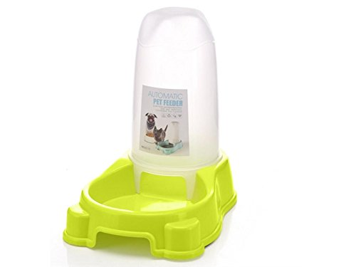 Yunqir Suitable Automatic Pet Dog Cat Bowl Bottle Water Drinking Dispenser Feeder Fountain-Green by Yunqir
