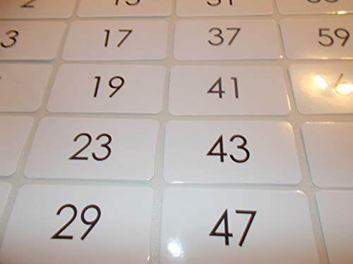 22 Laminated Prime Number Math Flashcards. ()
