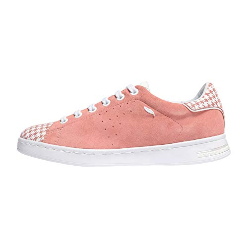 Sneakers Jaysen coral A Femme Geox C7204 Basses Rouge white D qvtxTw5B