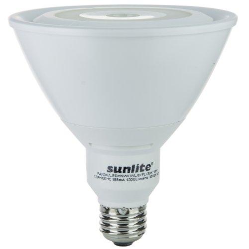 Sunlite PAR38/LED/19W/WL/D/FL/30K 120-volt Medium Base Dimmable LED PAR38 Reflector Lamp, Warm White (Fluorescent 19 Watt Par38 Reflector)