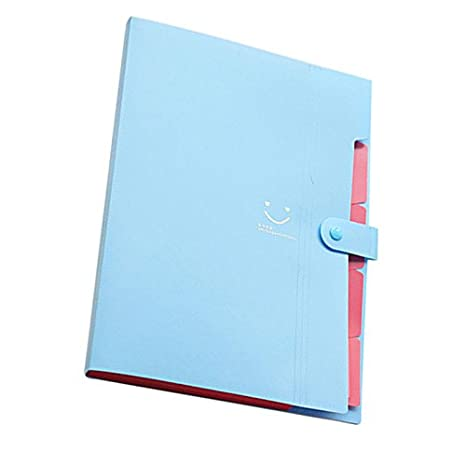 Amazon.com : TOOGOO(R) Kawaii FoldersStationery Carpeta File Folder 5layers Archivadores Rings A4 Document Bag Office Carpetas£¨Sky Blue£ : Office Products