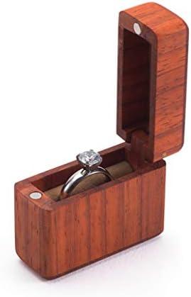 ruiruiNIE Holzringträger Box Hochzeit Verlobungsring Halter Box Schmuckschatulle Favor Geschenk Holzring Box