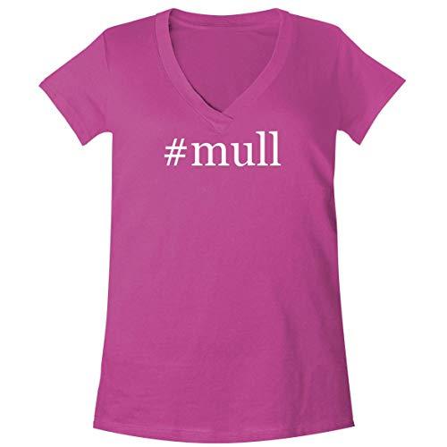 Mull Spice - #Mull - A Soft & Comfortable Women's V-Neck T-Shirt, Fuchsia, Large