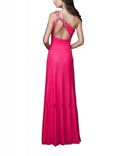 Kleid mit Perlen GEORGE Schein Spalte Mantel einer Vorder Applikationen Rot BRIDE Rot Abend Schulter vrPPWaAZ