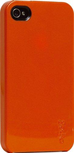 Gecko Profile métallique macrolon Coque rigide antireflets pour iPhone 4 Orange