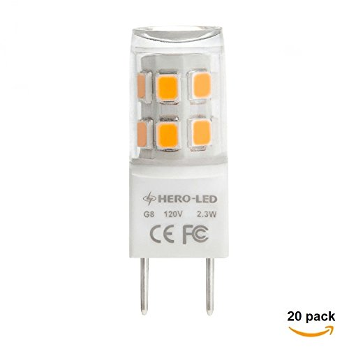 HERO-LED G8-17S-WW T4 G8 LED Halogen Xenon Replacement Li...