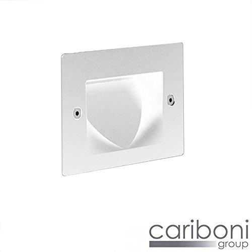 Cariboni FIN XS 4W 300lm LED 3000 K Blanco Segnapasso Foco Encastrable Recessed: Amazon.es: Iluminación