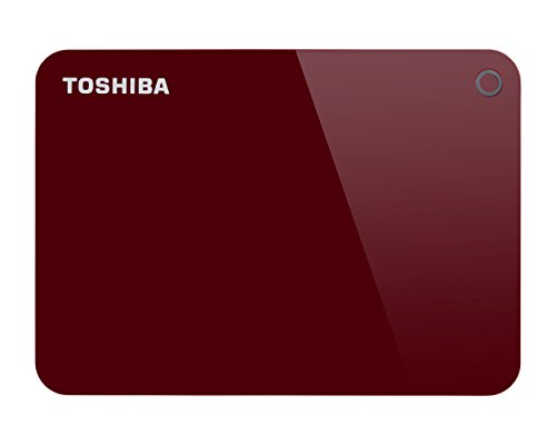Toshiba Canvio Advance 1TB Portable External Hard Drive USB 3.0, Red (HDTC910XR3AA) 31GPAAbQi5L