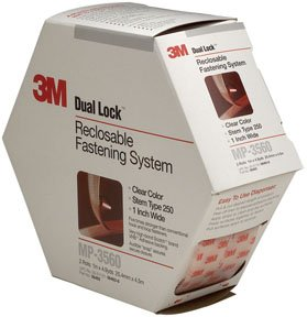 3M(TM) Dual Lock(TM) Reclosable Fastener MP3560 250 Clear, 1 in x 5 yd, 0.22 in engaged thickness, 2 per pack