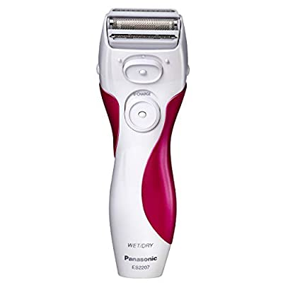 Panasonic Electric Shaver for Women, ES2207P, Close Curves Electronic Shaver, 3-Blade Cordless Electric Razor and Pop-Up Trimmer, Wet or Dry Shaver Operation