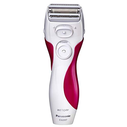 Panasonic Electric Shaver for Women, ES2207P, Close Curves Electronic Shaver, 3-Blade Cordless Electric Razor and Pop-Up Trimmer, Wet or Dry Shaver - Blade Personal Groomer Panasonic