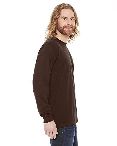 American Apparel Unisex Fine Jersey Long Sleeve T-Shirt - Brown / S