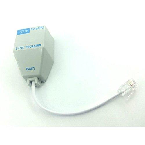 Filtro ADSL duplo para internet e telefone