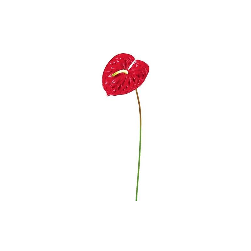 """silk flower arrangements 24"""" anthurium spray red (pack of 12)"""