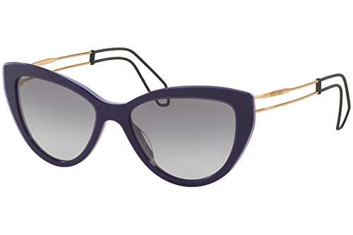 Miu Miu MU12RS USN3E2 Lilac/Violet Transparent MU12RS Cats Eyes Sunglasses Le