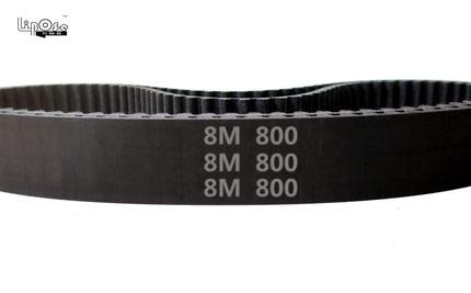 Fevas 25pcs 800 HTD 8M 12 Timing Belt Length 800mm Width 12mm Pitch 8mm Teeth 100 Rubber HTD8M STD S8M Timing Belts