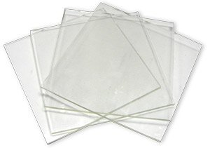 System 96 6inch Clear Glass Squares - 4 (Spectrum System 96 Glass)
