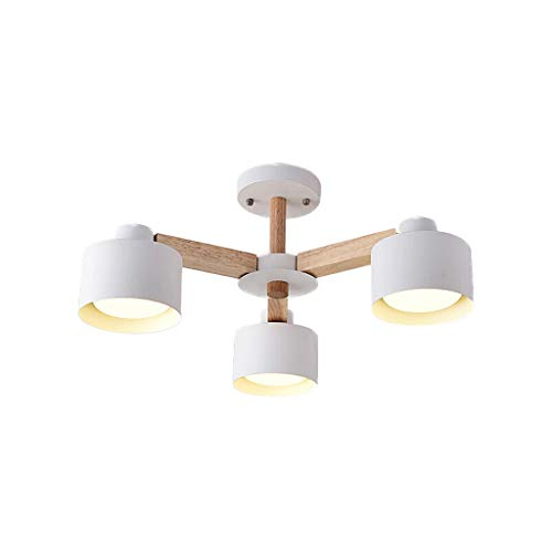 (TQUANG Nordic Wood Chandelier Modern Country Style Foyer Ceiling Lamp Restaurant Bedroom Decoration Lamps E27 (Size : 3)