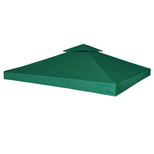 vidaXL Gazebo Canopy Top 10'x10' Green Replacement Cover 2 Tier Outdoor Garden (2 Tier Gazebo)