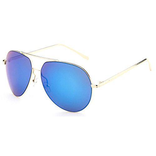 LOMOL Unisex Fashion Classic Aviator Style UV Protection Big Frame Driving - Morpheus Sunglasses Style