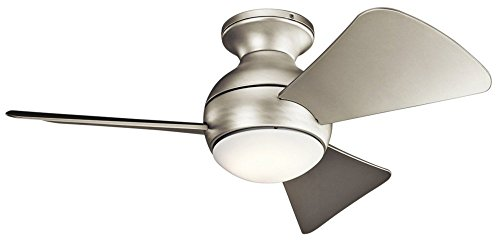 Kichler  330150NI Sola Ceiling Fan With Light Kit, Brushed Nickel, 34""