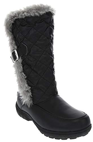 LONDON FOG Womens Lennox Waterproof Cold Weather Snow Boot BK 9 M US