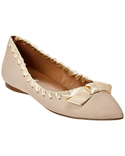 Sole Suede French Flats (French Sole Matador Suede Flat, 7.5, Beige)