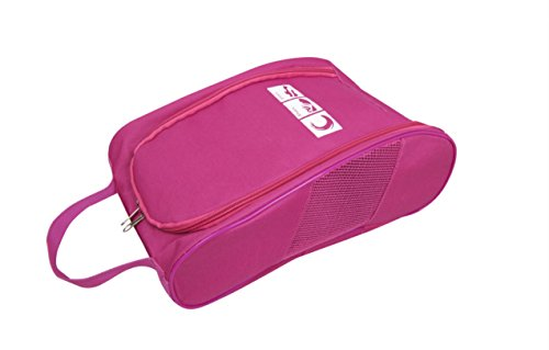 Amazhu Portable Travel Shoe Bags with Zipper Closure, Convenient for Packing System for Your Shoes, Space Saver Bag, Protect Shoes from Dirt and Smell of Your Shoes. ()