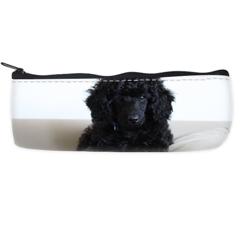 Black Miniature Toy Poodle Customized Art Decor Pencil Case Printing Twin Sides -