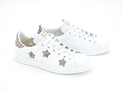 rosa Zapatilla glitter blanca VICTORIA estrellas 125129 6T1vwv