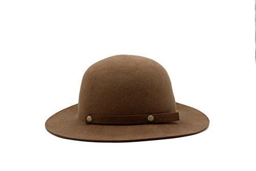 Jayne 1 Light - AccessHeadwear Alpas Ladie's Jayne Light Coffee 100% Wool Felt Packable Cloche Hat w/Bow