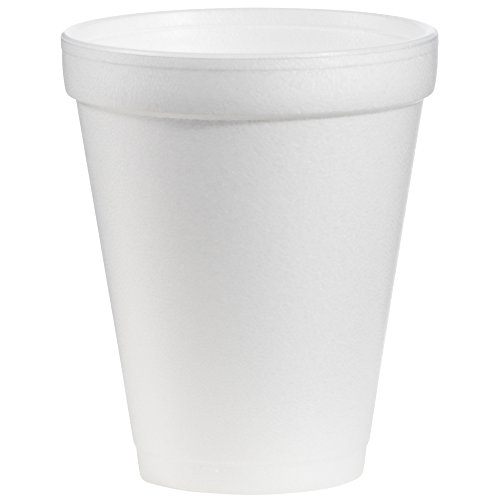 Dart DRC10J10 Styrofoam Insulated Foam Cups, 10 oz, Carton of 1000(40 packs of 25 cups) Dart Dart Foam Cup