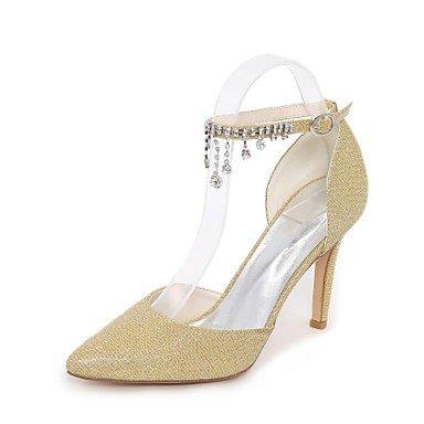 RTRY La Mujer Bomba Básica Wedding Shoes Glitter Primavera Verano Boda &Amp; Noche De Strass Glitter Espumoso Stiletto Heelblue Ruby Silver US5 / EU35 / UK3 / CN34