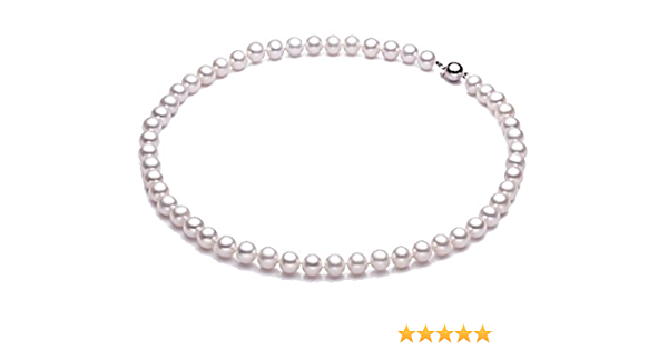 8mm AAA Freshwater Pearl White Round Cultured Pink Luster Half Strand 26 Pearls