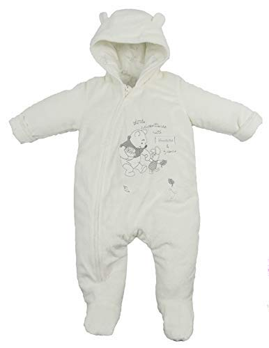 Baby Snowsuit Pram Coat Unisex Disney Winnie The Pooh Tiny Baby to 9-12 Months (3-6 Months)