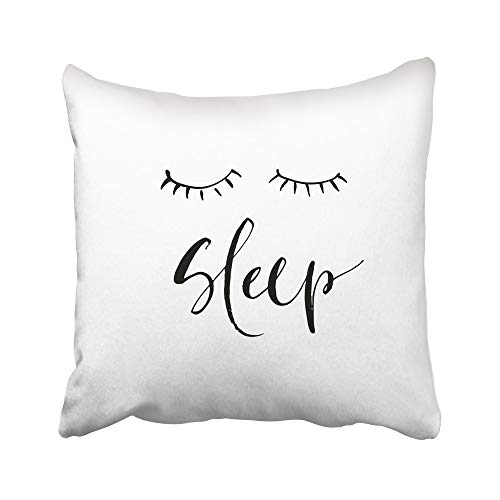 Emvency Decorative Throw Pillow Covers Cases Hand Phrase