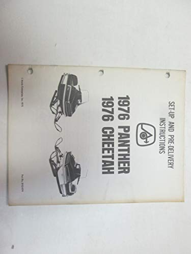 - 1976 Arctic Cat Jag Set Up and Pre-Delivery Instructions Manual OEM ***