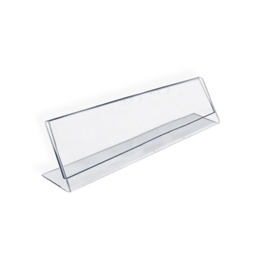 Azar 112702 Horizontal 6-Inch Width by 2-Inch Height Nameplate Acrylic Sign Holder, 10-Piece Set
