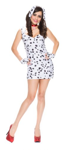 [Delicious Spotted Sweetie Dalmatian Costume, Multi, Large] (Dalmatian Ears)