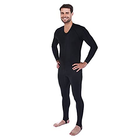 Ivation Men's Full Body Wetsuit Sport Skin for Running, Exercising, Diving, Snorkeling, Swimming & Water Sports