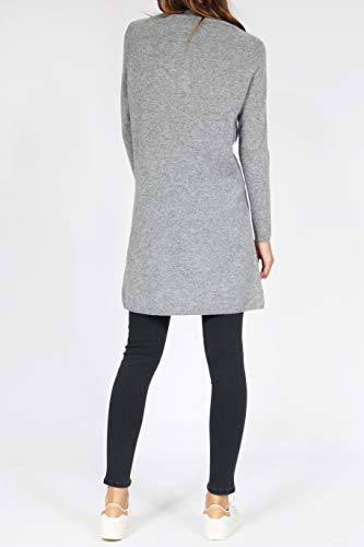 Grau mit im Mix Stehkragen Kaschmir Strickkleid Merino bloom nw01aFqg7x