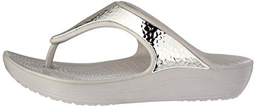 Plateau platinum Beige Donna Con Crocs Sloane Sandali Embellished Flip ax0n8pXq