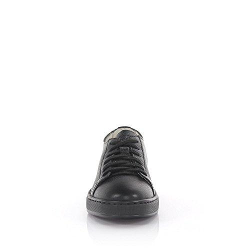 Santoni Sneakers Leder Schwarz