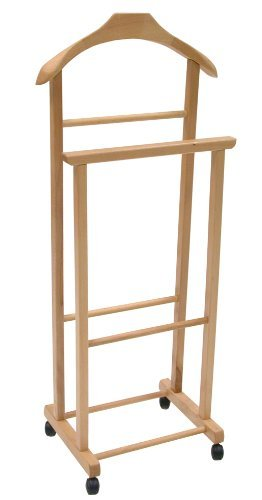 Wooden Valet Stand Clothes Hanger Or Clothes Horse, Colour: Natural