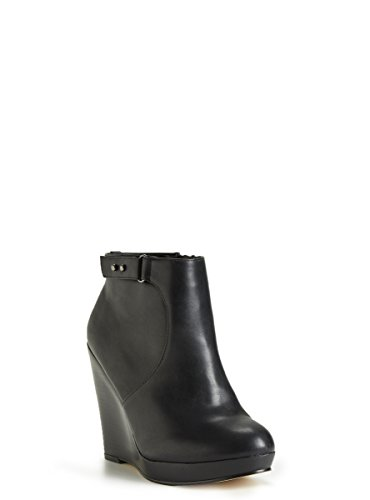 Faux Leather Wedge Booties (Wide Width)