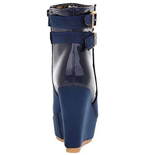 Women's Boot Women's Classic Boot Classic AIYOUMEI Blue Blue AIYOUMEI AIYOUMEI 7wqEw1