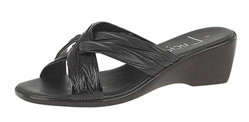 Talón Noche Con Negro De O Informal Ropa Zapatos Sin Sandalias Cuña mujer fEZAxA