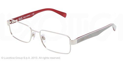 Amazon.com: Dolce & Gabbana dg1238p anteojos-1172 silver-54 ...